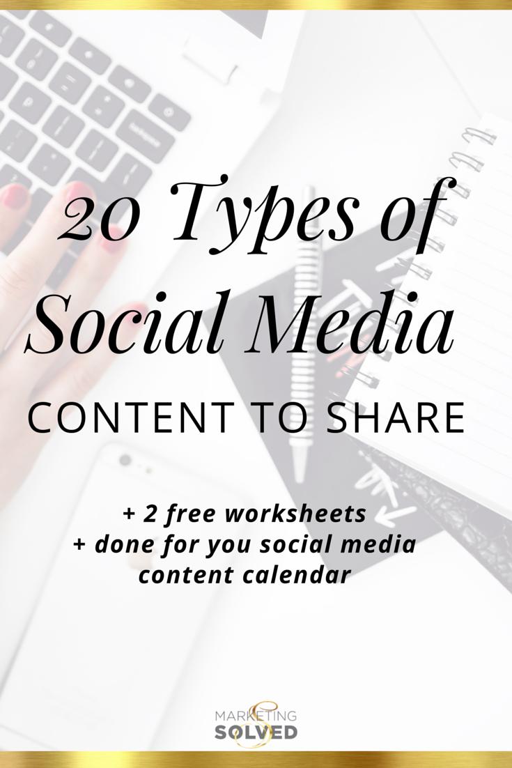 types of social media marketing pdf
