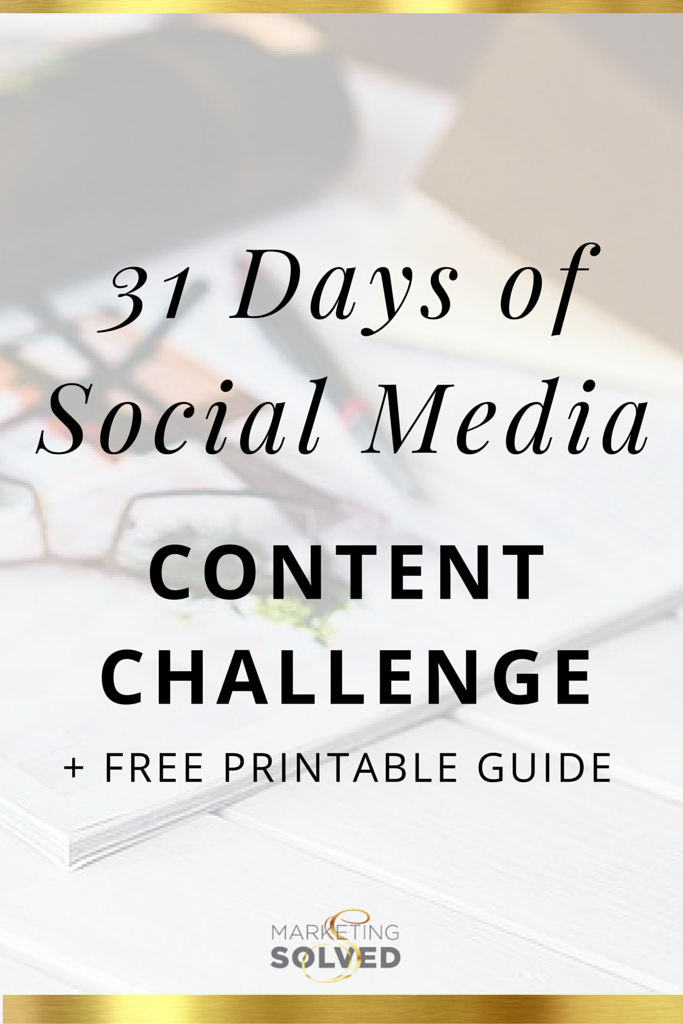 Social Media Content with Free Printable Guide