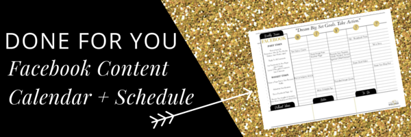 Facebook Content Calendar + Schedule