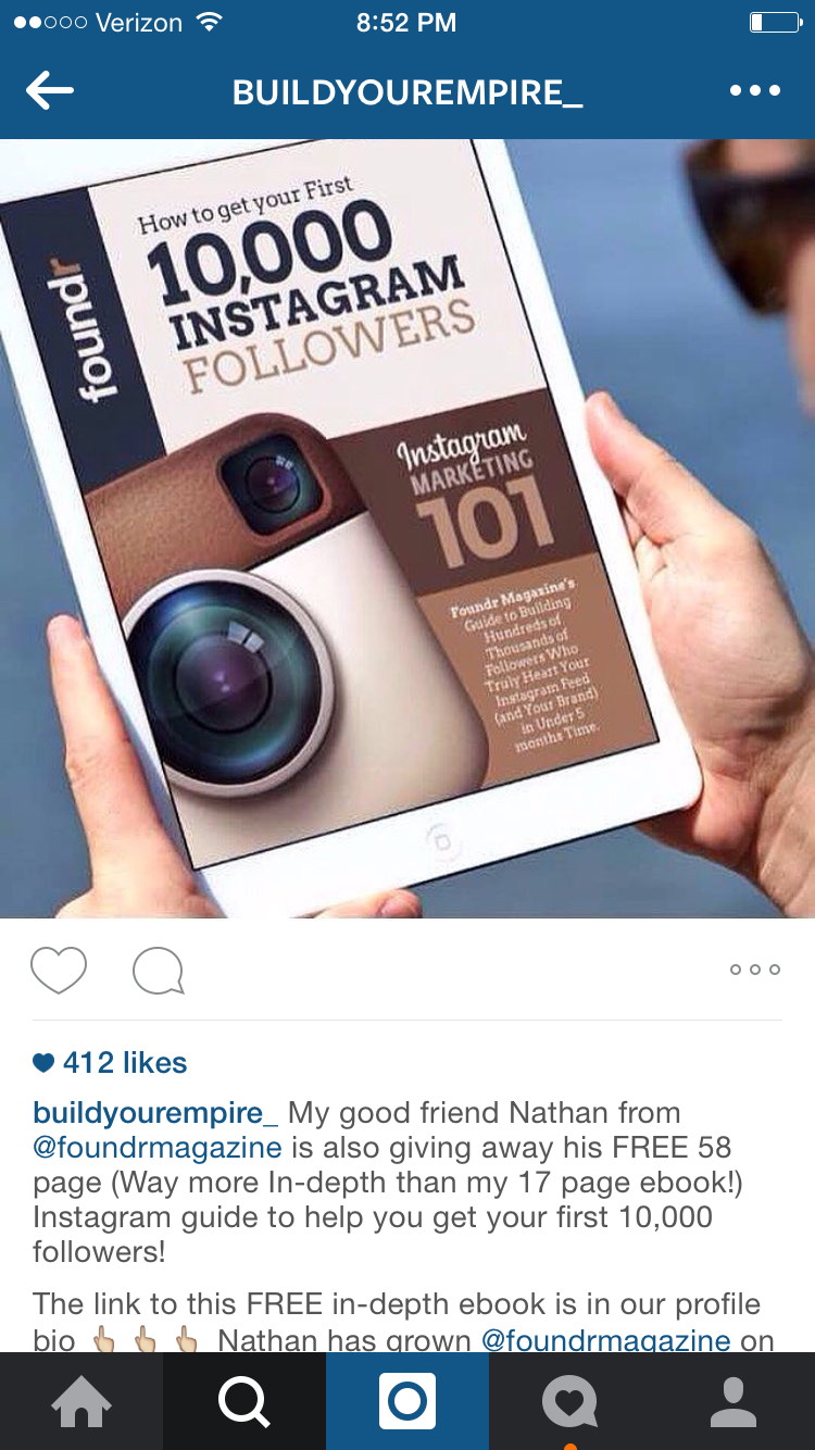 instagram newsletter promo
