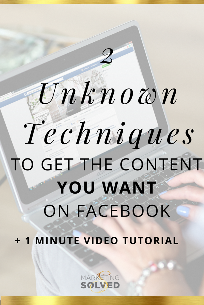 How to get content on Facebook