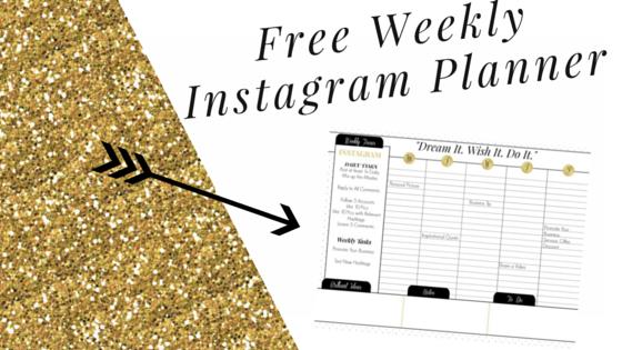 instagram weekly planner  free printable calendar