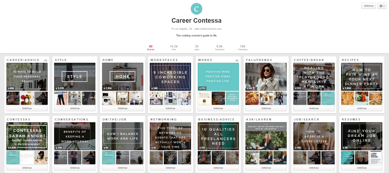 career contessa pinterest