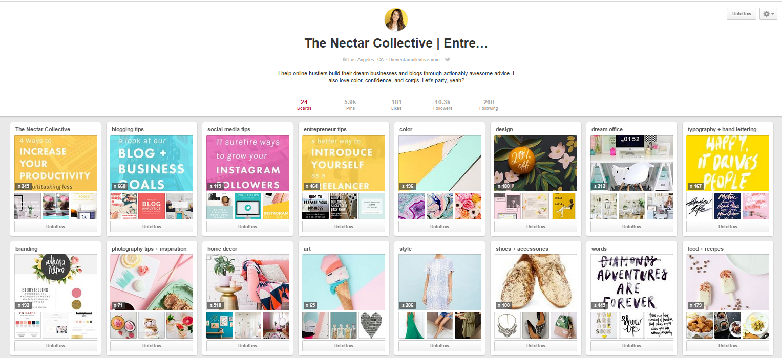 nectar collective Pinterest