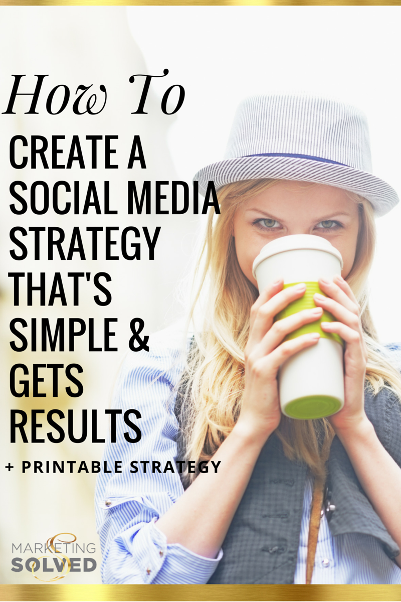 How to Create a Social Media Strategy + Printable Done For You Strategy - Marketing Solved