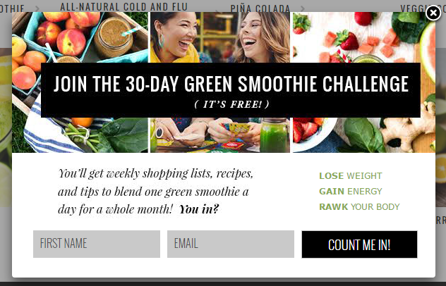 simple green smoothies lead magnet opt in