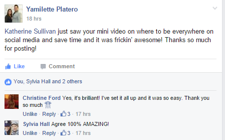 Marketing Solved Facebook Group Testimonial