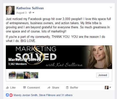 Facebook Post PRomoting Facebook Marketing SOlved
