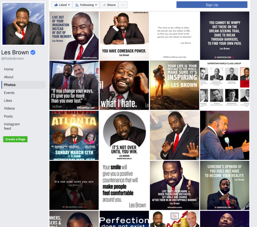 Les Brown Social Media Branded Graphics