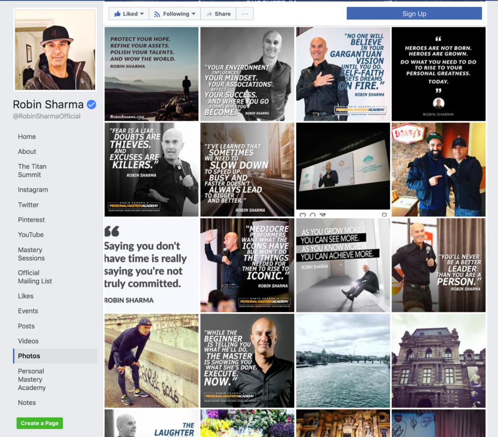 Robin Sharma Social Media Branded Graphics