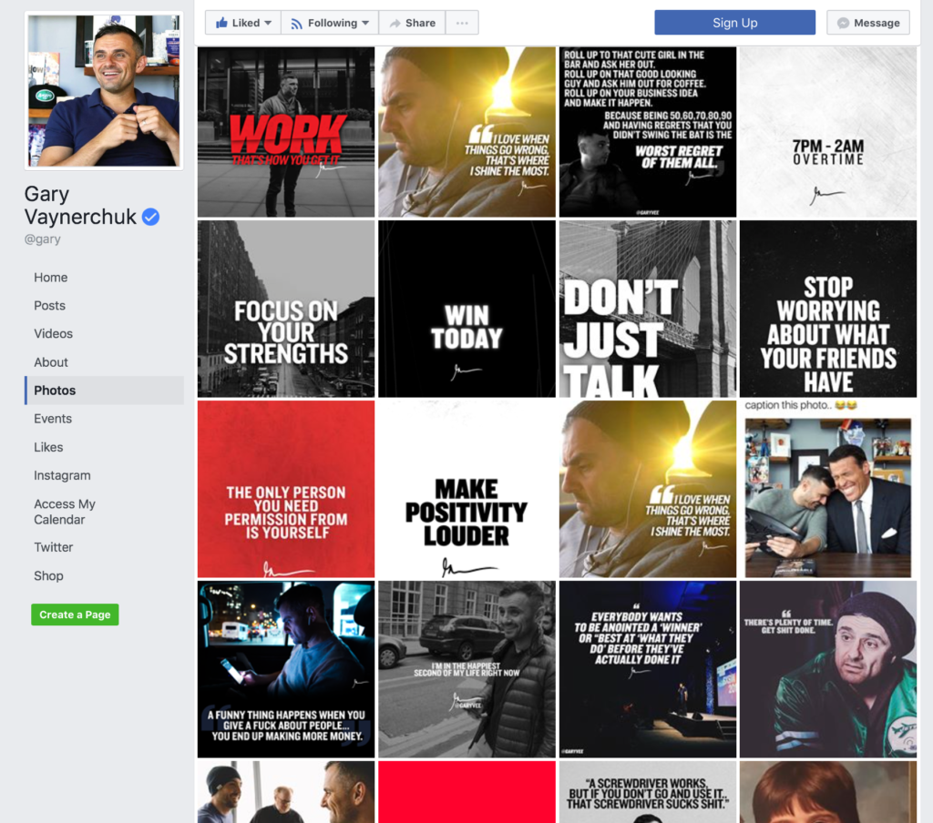 Gary Vaynerchuk Social Media Branded Graphics