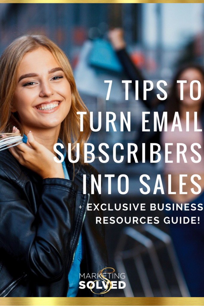 How to Turn Email Subscribers into Sales