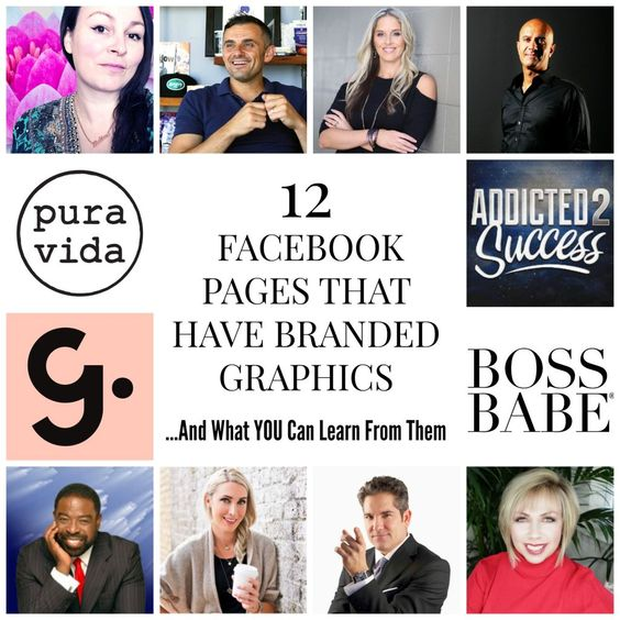 12 Facebook Pages That Have Branded Social Media Graphics And What You Can Learn From Them // Social Media Theme Ideas // Social Media Marketing // Social Media Graphics // Social Media Branding