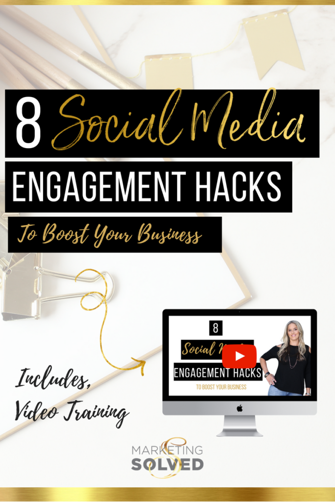 8 Social Media Engagement Hacks, Strategies & Tips to Boost Your Business// social media engagement tips // social media engagement hacks // social media engagement strategies // // Increase visibility on social media // increase reach on social media // youtube marketing channels // marketing solved// kat sullivan
