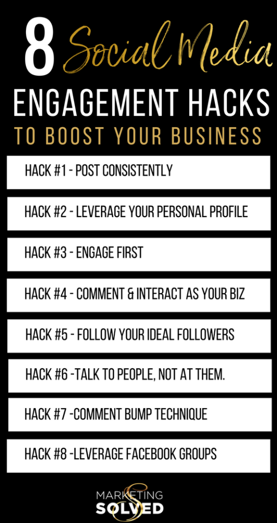 8 Social Media Engagement Hacks, Strategies & Tips to Boost Your Business 8 Social Media Engagement Hacks, Strategies & Tips to Boost Your Business// social media engagement tips // social media engagement hacks // social media engagement strategies // // Increase visibility on social media // increase reach on social media // youtube marketing channels // marketing solved// kat sullivan
