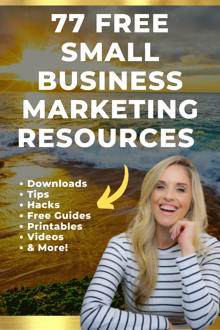 77 FREE Small Business Marketing Strategies and Resources. Social Media Printables, Social Media Hacks, Social Media Checklists, Social Media Guides, Social Media Tutorials, Social Media Videos and more. Social Media Marketing Ideas // Social Media Tips // Social Media Marketing Strategies // Social Media #SocialMediaMarketing #SocialMediaTips #SmallBusinessMarketingStrategies