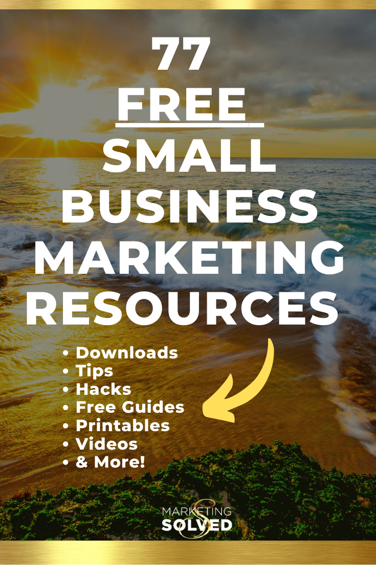 77 Small Business Marketing Strategies and Resources // Includes Social Media Printables, Marketing Hacks, Marketing Checklists, Social Media Guides, Marketing Tutorials, Videos and more. #marketing #marketingtips #marketingstrategies #socialmedia #marketing #marketingforsmallbusiness #smallbusinessmarketing #smallbusiness