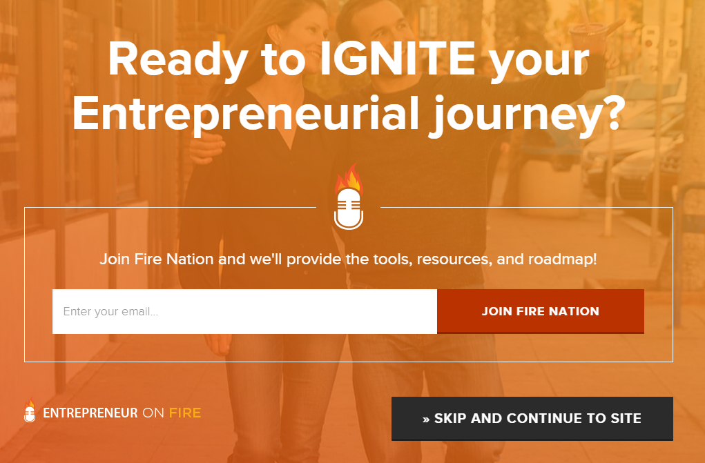 Entrepreneur On Fire Opt In