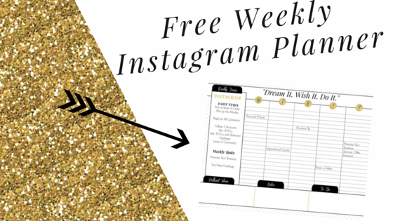 instagram weekly planner free printable calendar marketing solved. Black Bedroom Furniture Sets. Home Design Ideas