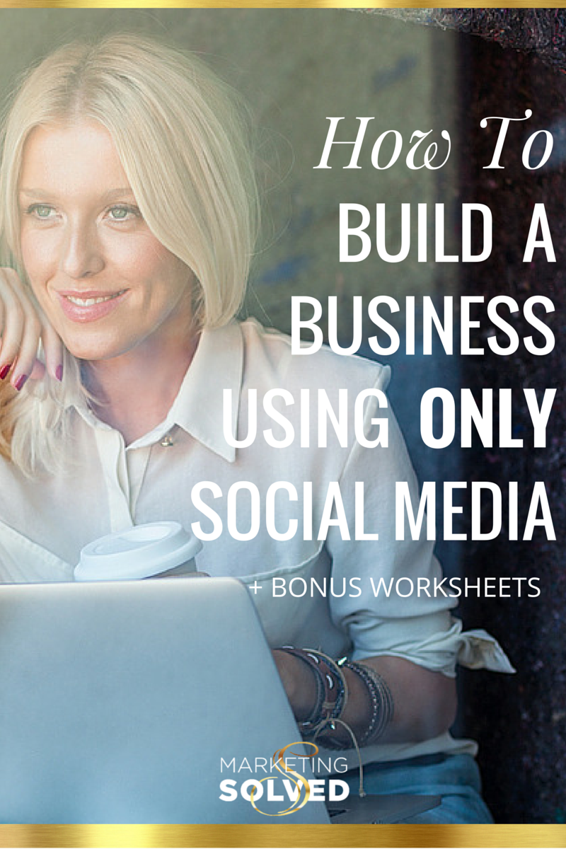 Detailed Post on How to build an entire business using only social media //social media // entrepreneur// business // marketing