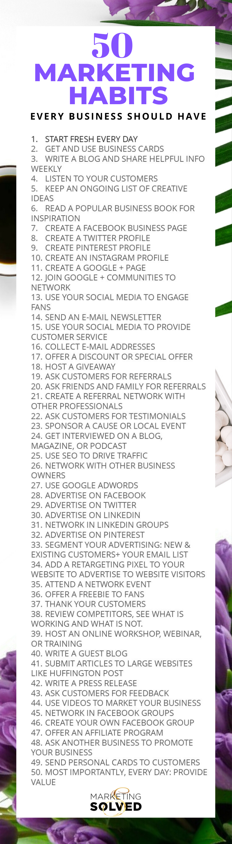 Marketing Habits for Small Business Owners