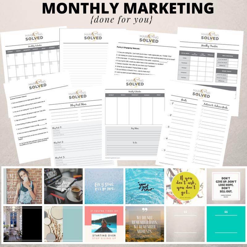 Monthly Marketing Solved - Marketing Solved