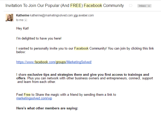 Facebook Group promotions