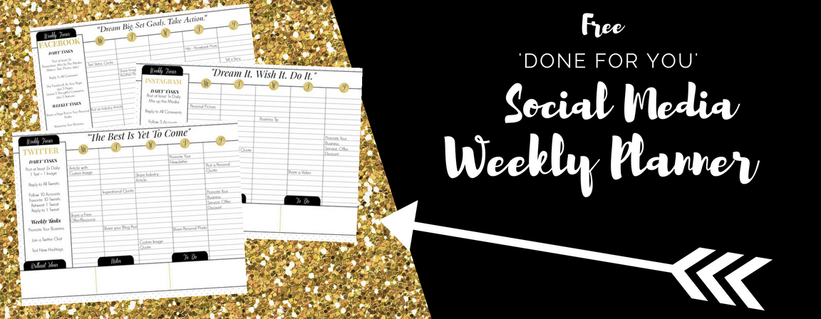 Done for you social media weekly planners