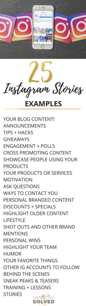 25 Instagram Stories Content Ideas // Instagram Stories // Instagram Content Ideas // Instagram Stories Content Ideas // Instagram Stories Examples // 25 Instagram Story Examples // Instagram Stories // Instagram Stories Tips