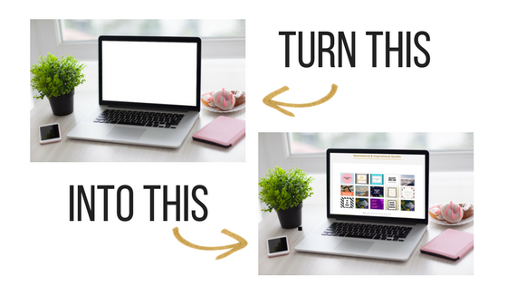 How to Insert Your Images on a MockUp & Customize Stock Photography