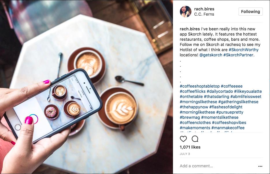 social media influencer example