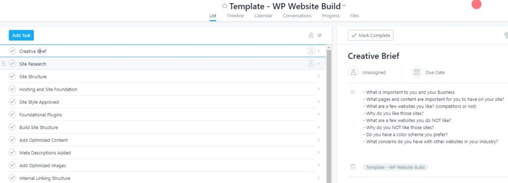 Asana Project Workflow Dashboard