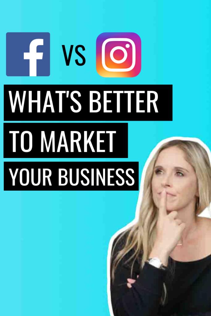 Facebook VS Instagram, What's better to market your business? // Social Media Marketing // Facebook Marketing // #InstagramMarketing