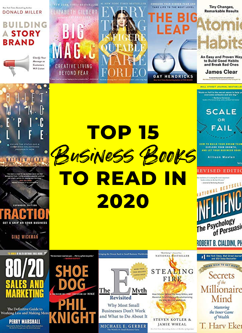 15 Business Books to Read in 2020 / Business Books for Women // Business Books for Entrepreneurs
